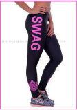 Guêtres sexy de collants de yoga de sport de coton de mode de logo d'OEM