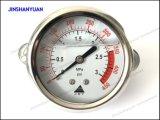 """tipo de 2.5 """" de presión llenados líquido calibradores/del Manómetro-Detrás"""
