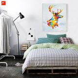 Картина маслом лосей лося искусствоа шипучки цветастая