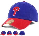 Chapéu do boné de beisebol dos esportes do algodão dos painéis da parte traseira 6 da cinta da curvatura do metal com logotipo do bordado 3D
