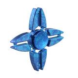 Do girador azul da mão do ângulo da forma quatro brinquedo do apaziguador do esforço anti para adultos das crianças