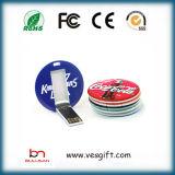 Neuer Fahrer-Kreis-Plastik-USB Pendrive USB-8GB greller