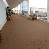 Decking composito del solido usato plastica WPC esterno in pavimentazione di legno