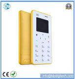 телефон карточки Qwerty клавиатуры мобильного телефона карточки X6 4.8mm ультра тонкий миниый карманный