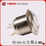 interruttore di pulsante illuminato indicatore luminoso d'aggancio momentaneo di 16mm LED