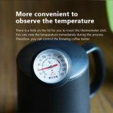 O aço inoxidável de Mooov derrama sobre a chaleira do fabricante de café do gotejamento com um termômetro