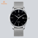 Gold Custom Logo Stainless Steel Quartz Wrist Whatch Mens Relógios 72860