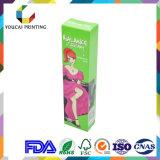 Preiswerte Großhandelsqualitäts-rechteckiger kosmetischer Farben-Kasten für Gesichts-Sahne-Goldheiße stempelnde Firmenzeichen-glatte Oberfläche