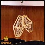 Lumière s'arrêtante de cristal en bois d'intérieur de décoration (KAMD8124-2-750)