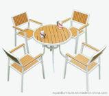 Presidenze di alluminio stabilite della Tabella di Polywood del patio della mobilia esterna moderna del giardino per il cortile dei bistrot del ristorante dell'hotel