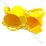 고품질에서 주문을 받아서 만들어지는 반지를 가진 실리콘고무 황색 컵