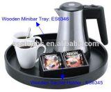 Bouilloire électrique d'acier inoxydable du Guestroom 0.5L d'hôtel avec le jeu de plateau