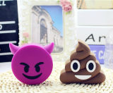 Batería 2600mAh de la potencia de Emoji del unicornio de la cara del grito de la sonrisa del PVC de la historieta