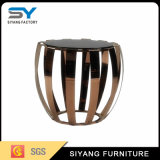 Espejo de alta calidad Muebles MDF mesa de café de vidrio