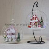 2017 Dollhouse de madeira de montagem bonito do brinquedo DIY das chegadas novas com Mini-Luz do sol Alis do presente de aniversário da esfera de vidro melhor