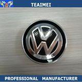 Coperchio di rotella di plastica dell'automobile di marchi dell'emblema del corpo del bicromato di potassio dell'ABS su ordinazione per il VW
