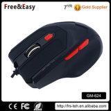 Связанная проволокой USB мышь компьютера мягкого касания холодная для разыгрыша