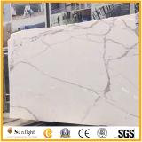 カウンタートップ、タイル、テーブルの上のためのCalacattaの磨かれたイタリアの白い大理石