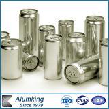 La benna di alluminio del latte di prezzi più poco costosi può con l'autoadesivo di marchio