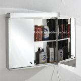 Armário de espelho de banheiro em aço inoxidável com luz LED 7060