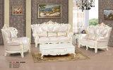 Sofá de couro de estilo europeu para móveis de sala de estar (S001)