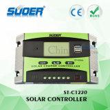Suoer 20A PWMの太陽料金のコントローラ12V 24Vの太陽コントローラ(ST-C1220)