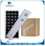 Batteria di litio del sensore del campione libero 30W PIR tutta in un indicatore luminoso di via solare