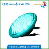 수중 빛을 수영하는 청록색 LED