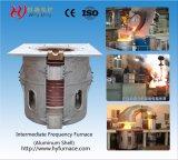 Four industriel en fusion pour l'aluminium