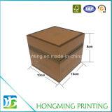 Boîte-cadeau cosmétique de papier gravée en relief par logo fait sur commande en gros