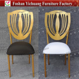 Белым Stackable используемые металлом стулы банкета с съемным местом Cuhion (YC-A278)