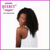 4 pacotes vendem por atacado o Weave Kinky brasileiro do cabelo Curly do Virgin do ser humano de 100%