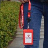 Изготовленный на заказ талреп Keychain логоса с печатание передачи тепла полиэфира