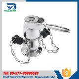Válvulas sanitárias da amostragem de Triclamp da cerveja do aço inoxidável Ss304 Ss316L