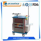 Doutor Emergency médico Médico Carro dos cuidados do equipamento médico do trole do ruído elétrico do hospital (GT-TA2814)