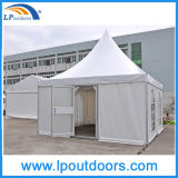 5X5m Luxus-Aluminiumpagode-Festzelt-Zelt mit einer Glastür