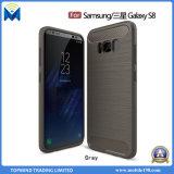 La fibre raboteuse TPU de carbone de gel de silicones d'armure d'usine desserrent la caisse pour la galaxie de Samsung S8 S8 plus