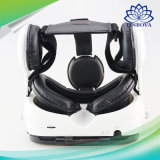 4-6'携帯電話のための元の革3Dボール紙のヘルメットのバーチャルリアリティのVrガラスのヘッドセットのステレオボックスボボVr