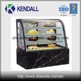 구부려진 유리를 가진 상업적인 냉장된 케이크 진열장