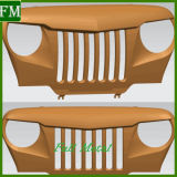 voor Agressieve Traliewerk van de Grill van de Grill van het Spook van Wrangler van de Jeep het Boze