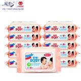 Toalla húmeda de la limpieza de la cara 80PCS / Towelettes húmedos / papel antibacteriano mojado del tejido