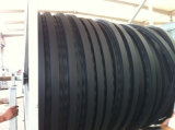 Línea espiral reforzada metal de la protuberancia del tubo del HDPE