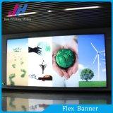 Alta bandera puesta a contraluz PVC brillante de Pringting para la visualización de los rectángulos ligeros