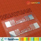 Etiqueta Printable da freqüência ultraelevada H3 RFID do estrangeiro 9662 do adesivo G2 para a gestão de ativos