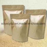 El papel de Kraft modificado para requisitos particulares del alimento se levanta el bolso Ziplock/el bolso del envasado de alimentos