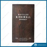 Casella di legno superiore personalizzata per la bottiglia del liquore (HJPWSB01)