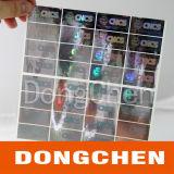 De gouden Sticker van het Etiket van het Hologram van het Serienummer van de Sticker van het Muntstuk