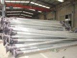 Luz de calle solar de la carrocería de la aleación de aluminio con poste de acero
