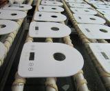 Luxurousの白いクリスタルグラススイッチ接触パネル
