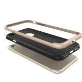 Los accesorios de la caja del teléfono celular rompen la caja híbrida combinada del carbón de la fibra del capítulo resistente del metal para el iPhone 7 más